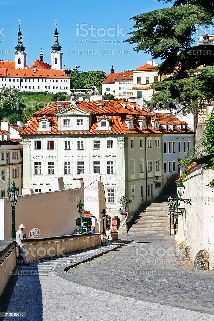 Bohemia, Prague (Praha), Czech - May 24, 2011 - Hradcanske namesti stock photo
