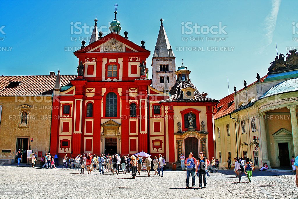 Bohemia, Prague, Czech - May 24, 2011 - St. George's Basilica stock photo