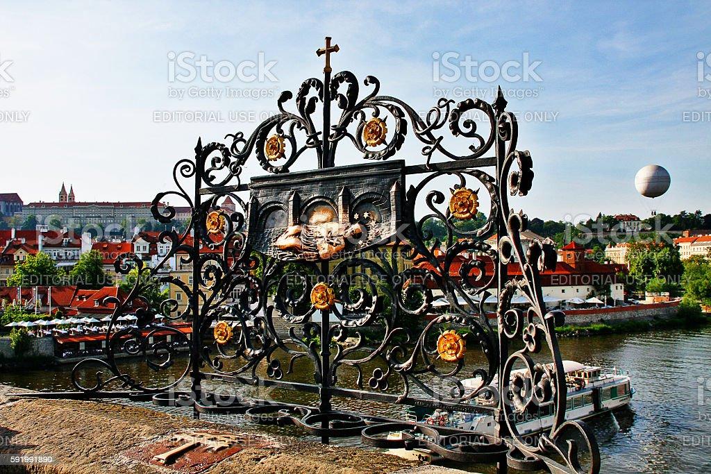 Bohemia, Prague, Czech Republic - May 23, 2011 - Charles bridge stock photo