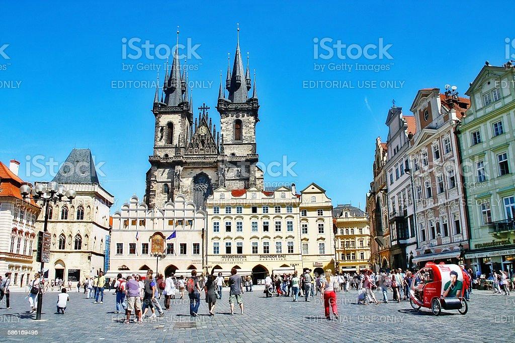 Bohemia, Prague, Czech Republic - May 24, 2011 - Tyn church stock photo