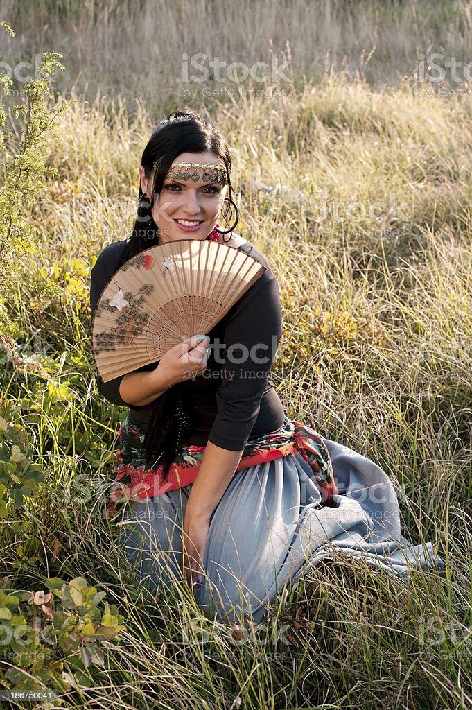 Bohemian Gypsy Woman royalty-free stock photo