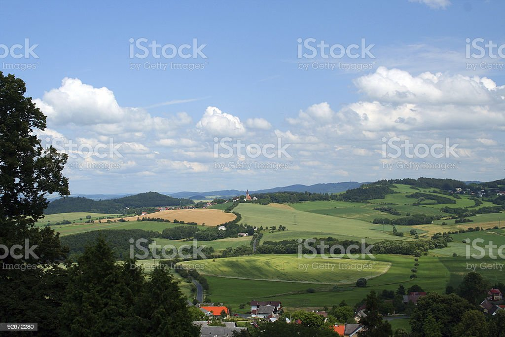 Bohemian landscape royalty-free stock photo