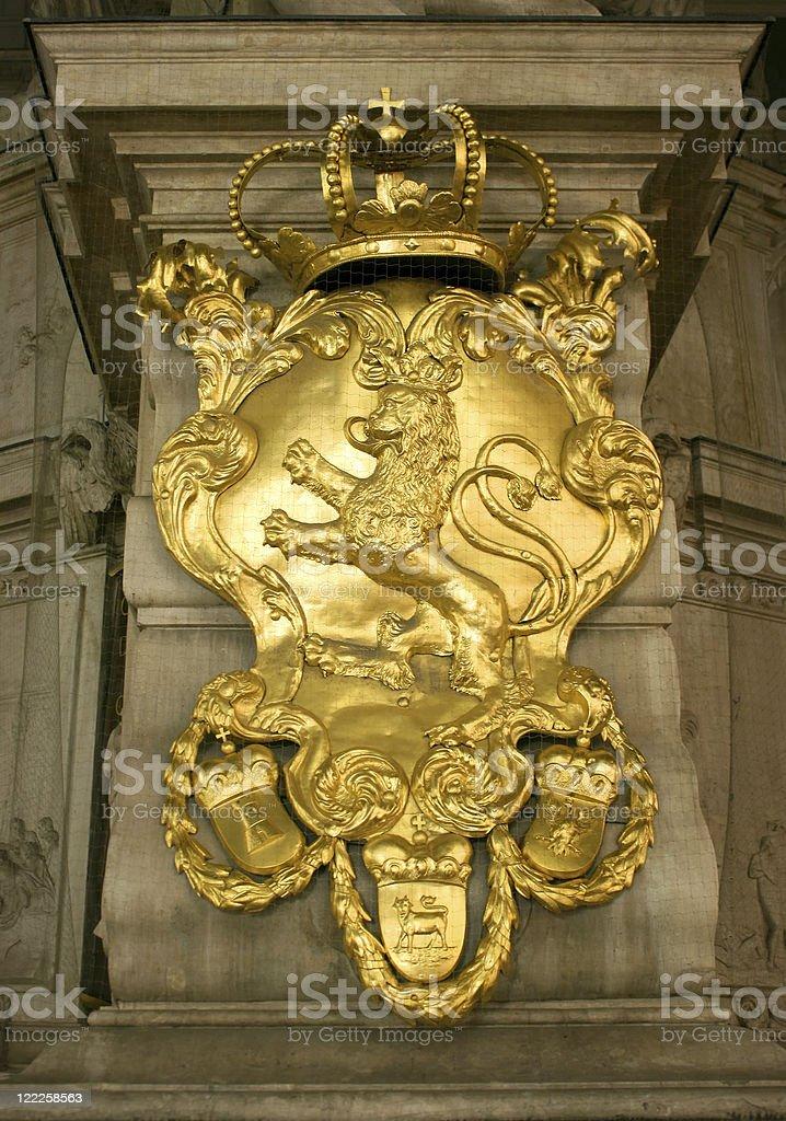 Bohemian lion stock photo