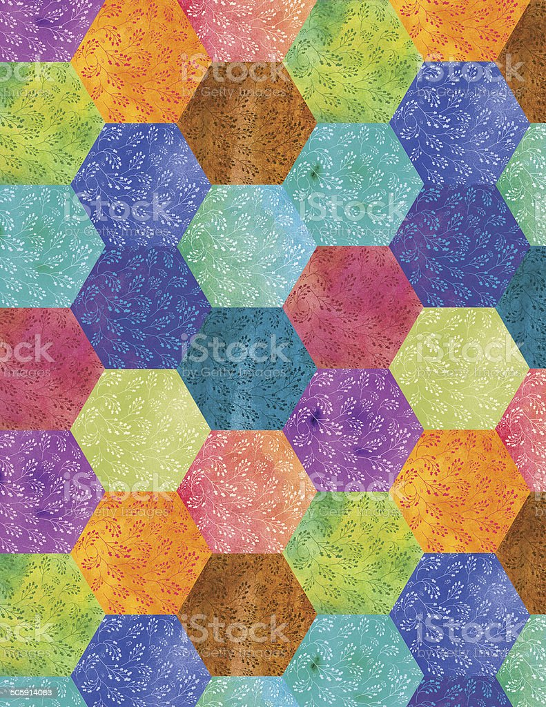 Bohemian Patchwork stock photo