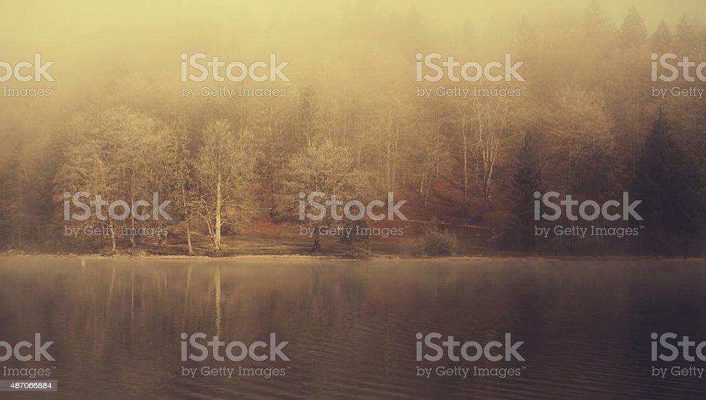 Bohinj Lake in Autumn stock photo