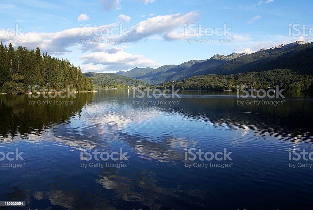 Bohinj lac dans le Parc national de Triglav Slovénie photo libre de droits