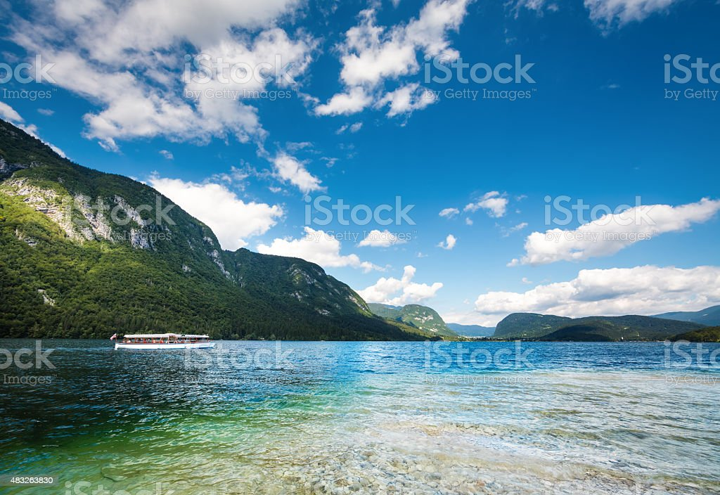 Bohinj Lake stock photo