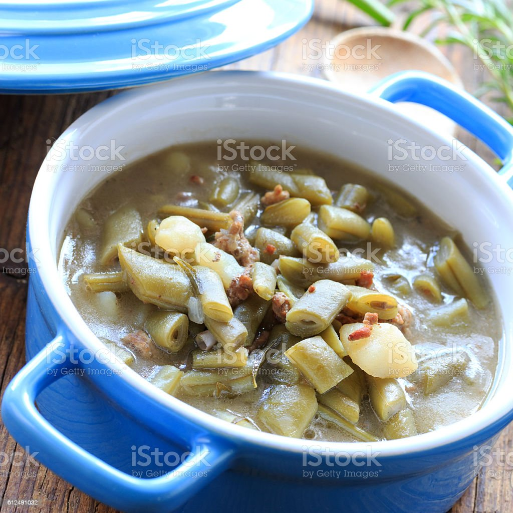 Bohnensuppe stock photo