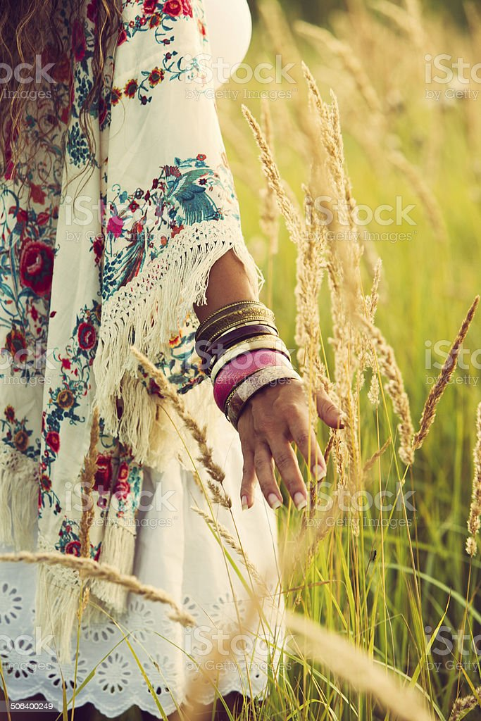 boho fashion stock photo