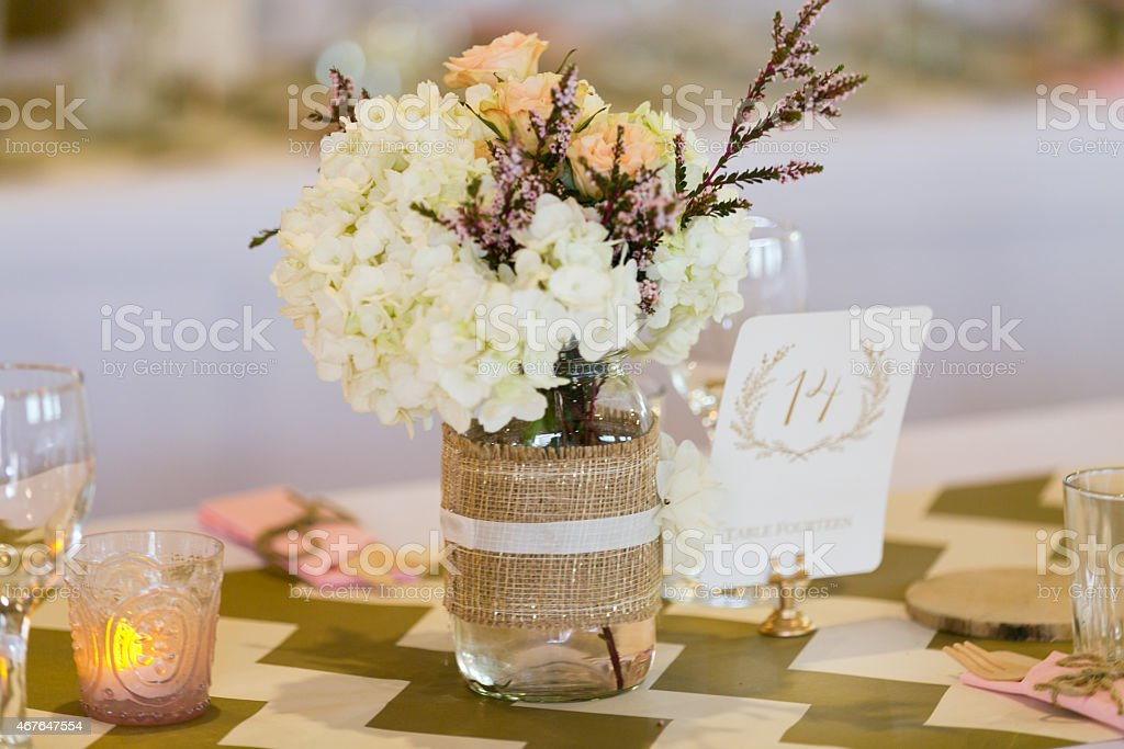 Boho Hydrangeas stock photo
