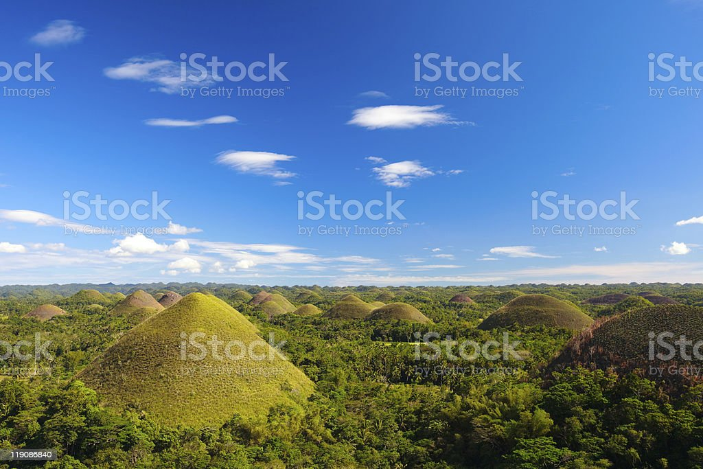 Bohol Chocolate Hills royalty-free stock photo