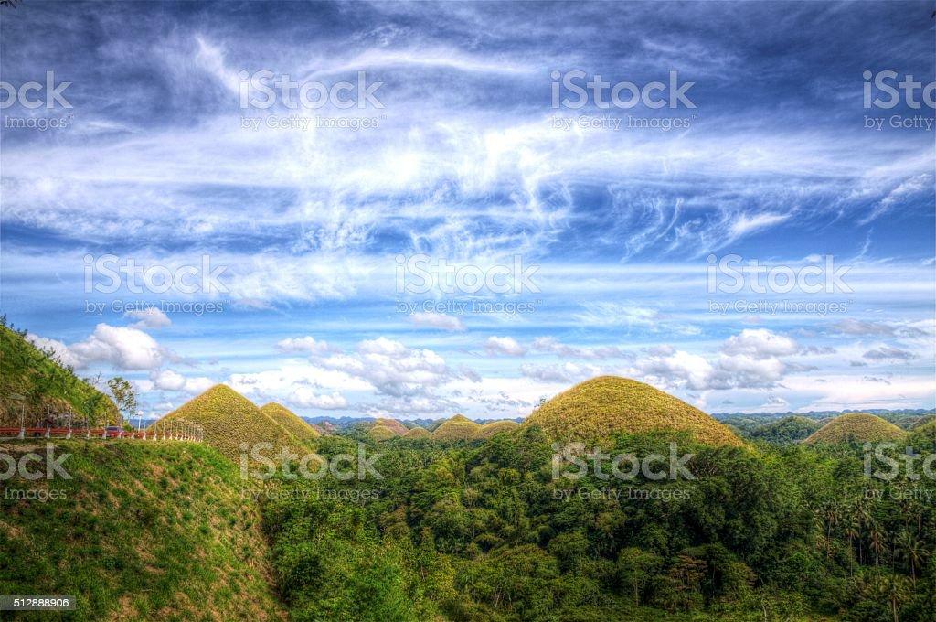 Bohol Chocolate Hills stock photo