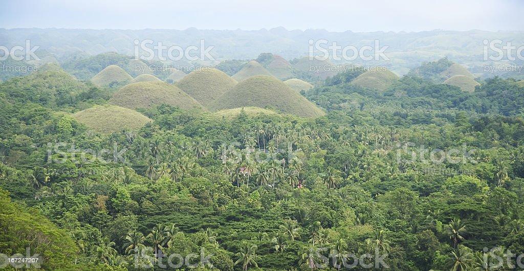 bohol chocoltae hills panorama philippines royalty-free stock photo