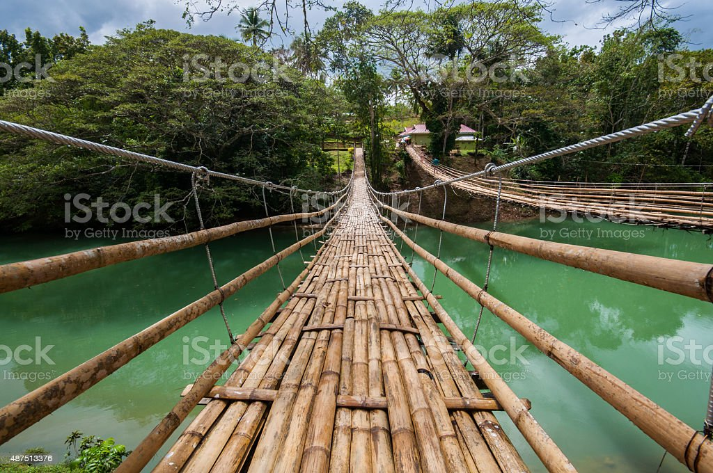 Bohol Hanging Bridge stock photo
