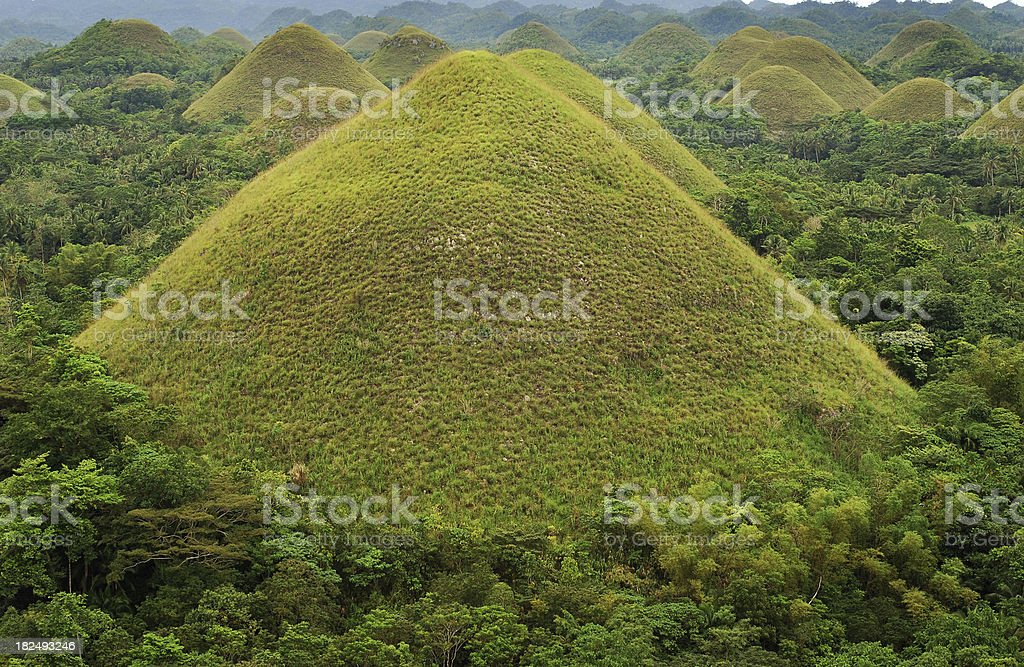 Bohol's Chocolate Hills stock photo