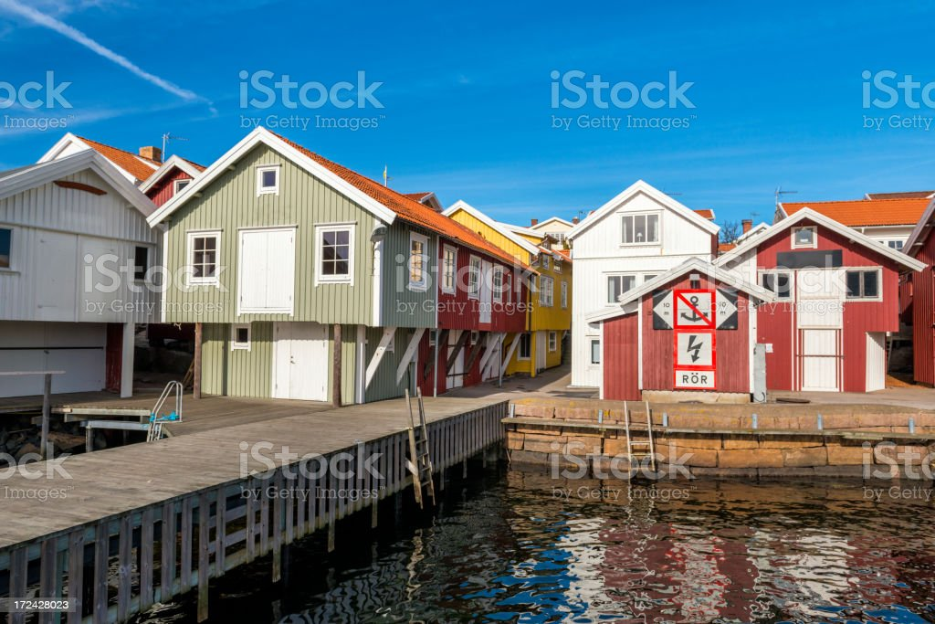 Bohuslan Fishing village royalty-free stock photo