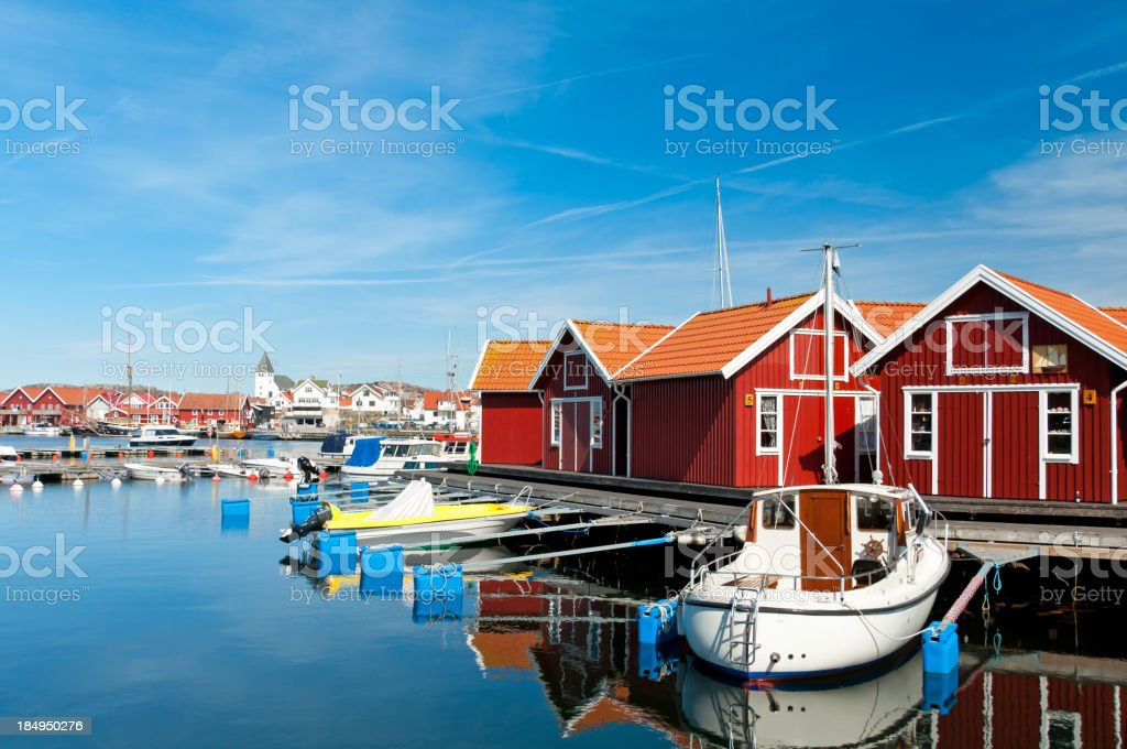 Bohuslan Marina stock photo