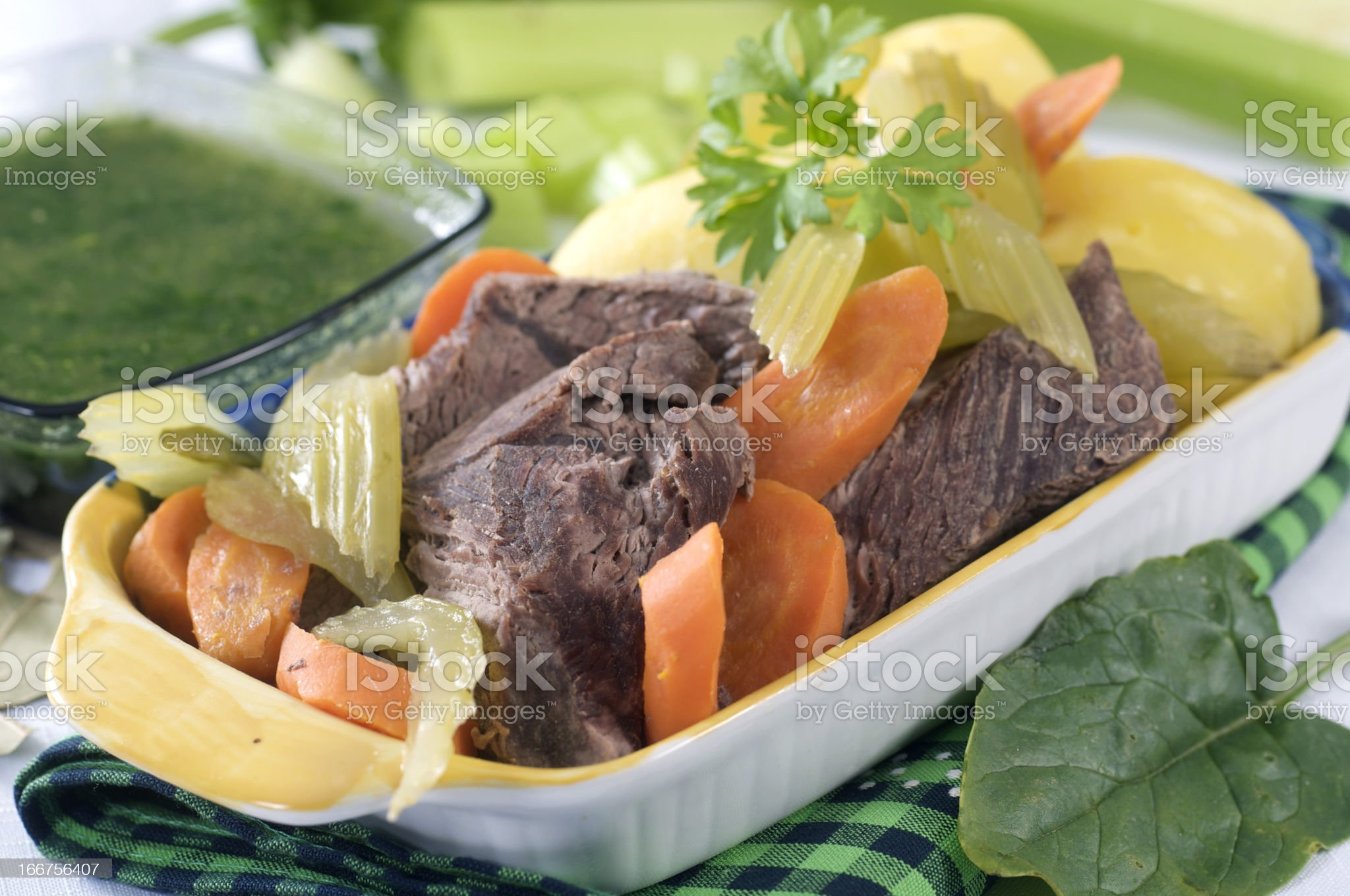 Boiled beef royalty-free stock photo