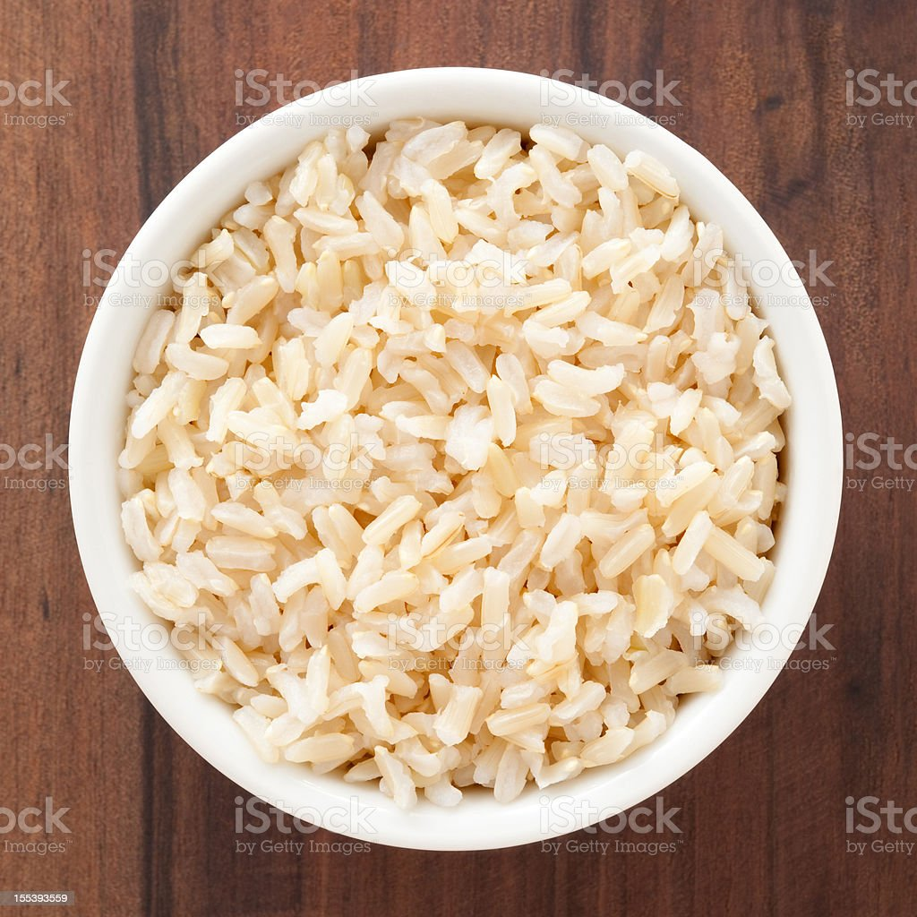 Boiled brown rice royalty-free stock photo