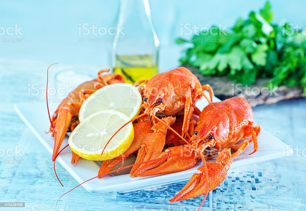 boiled cancer stock photo