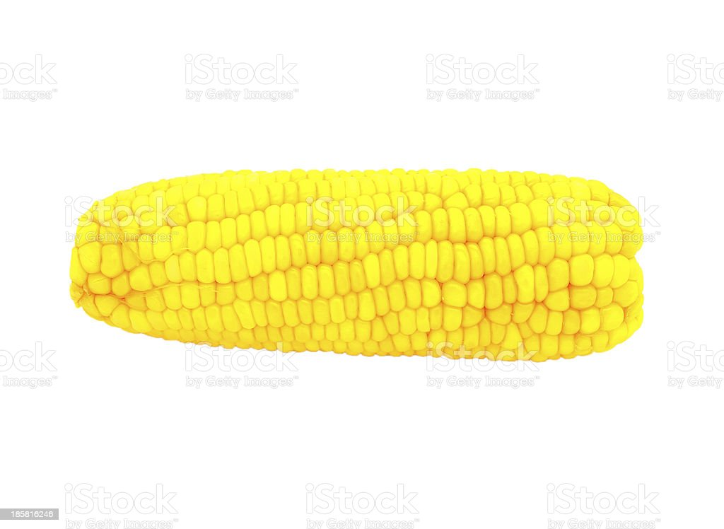 boiled corn isolated on white background royalty-free stock photo