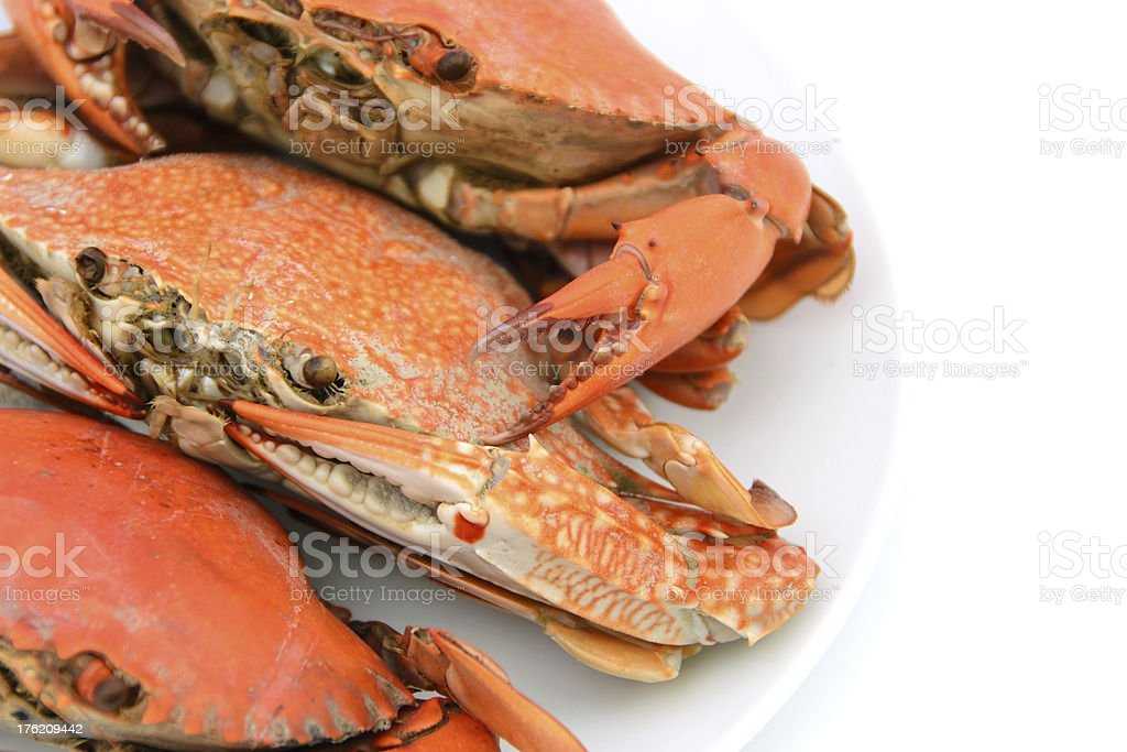 boiled crabs prepared royalty-free stock photo