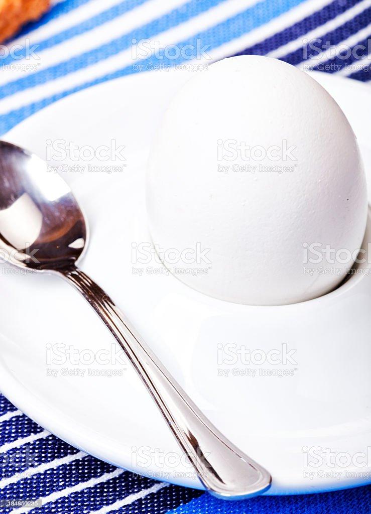 Boiled Egg for Breakfast stock photo
