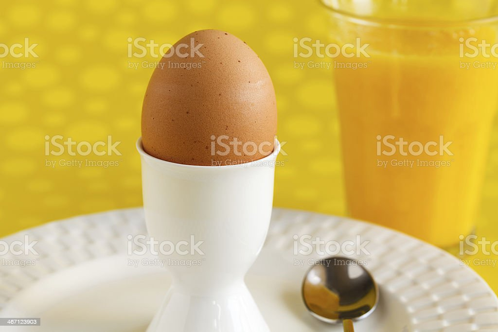 Boiled Egg in a Cup royalty-free stock photo