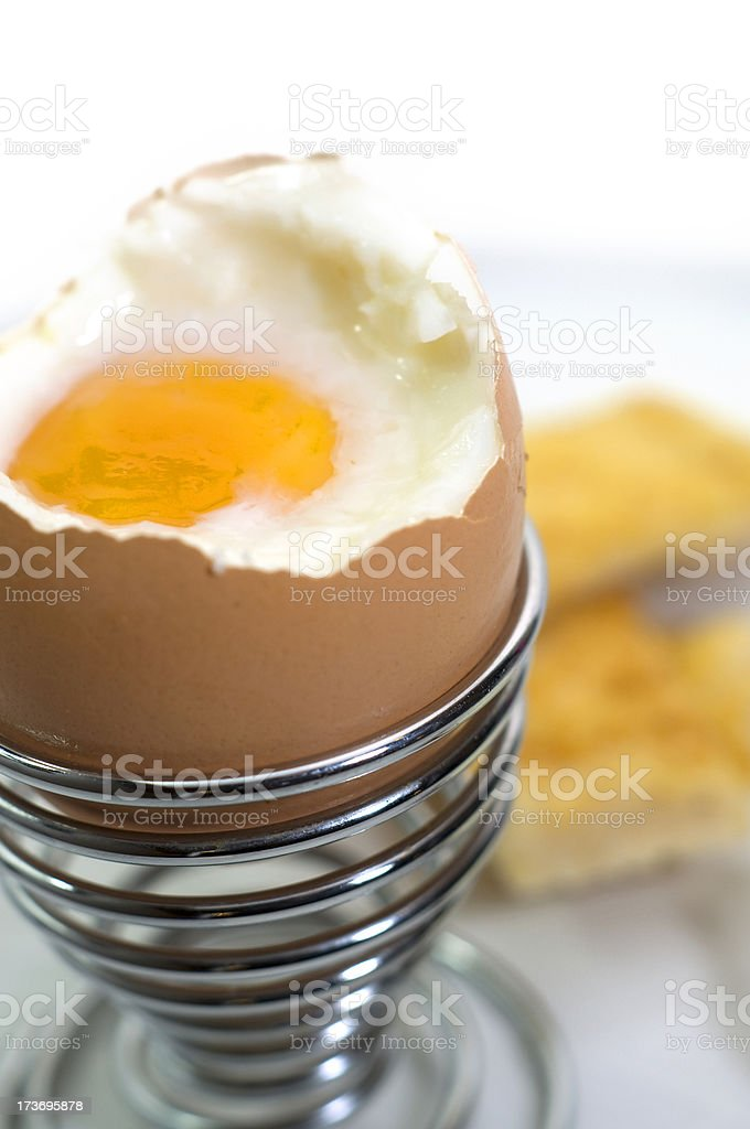 Boiled Egg & Soldiers royalty-free stock photo