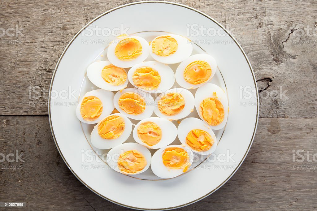 boiled eggs stock photo