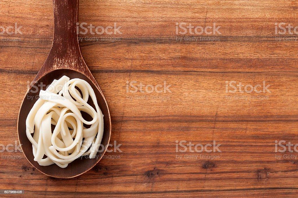 Boiled fettuccine stock photo