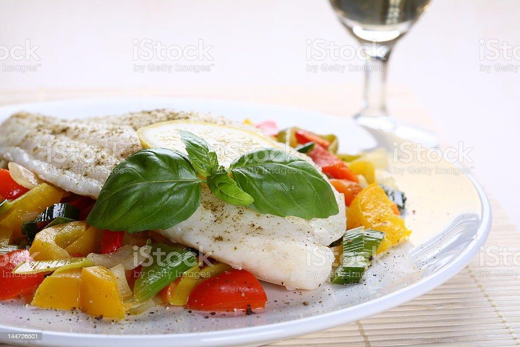 Boiled fish royalty-free stock photo