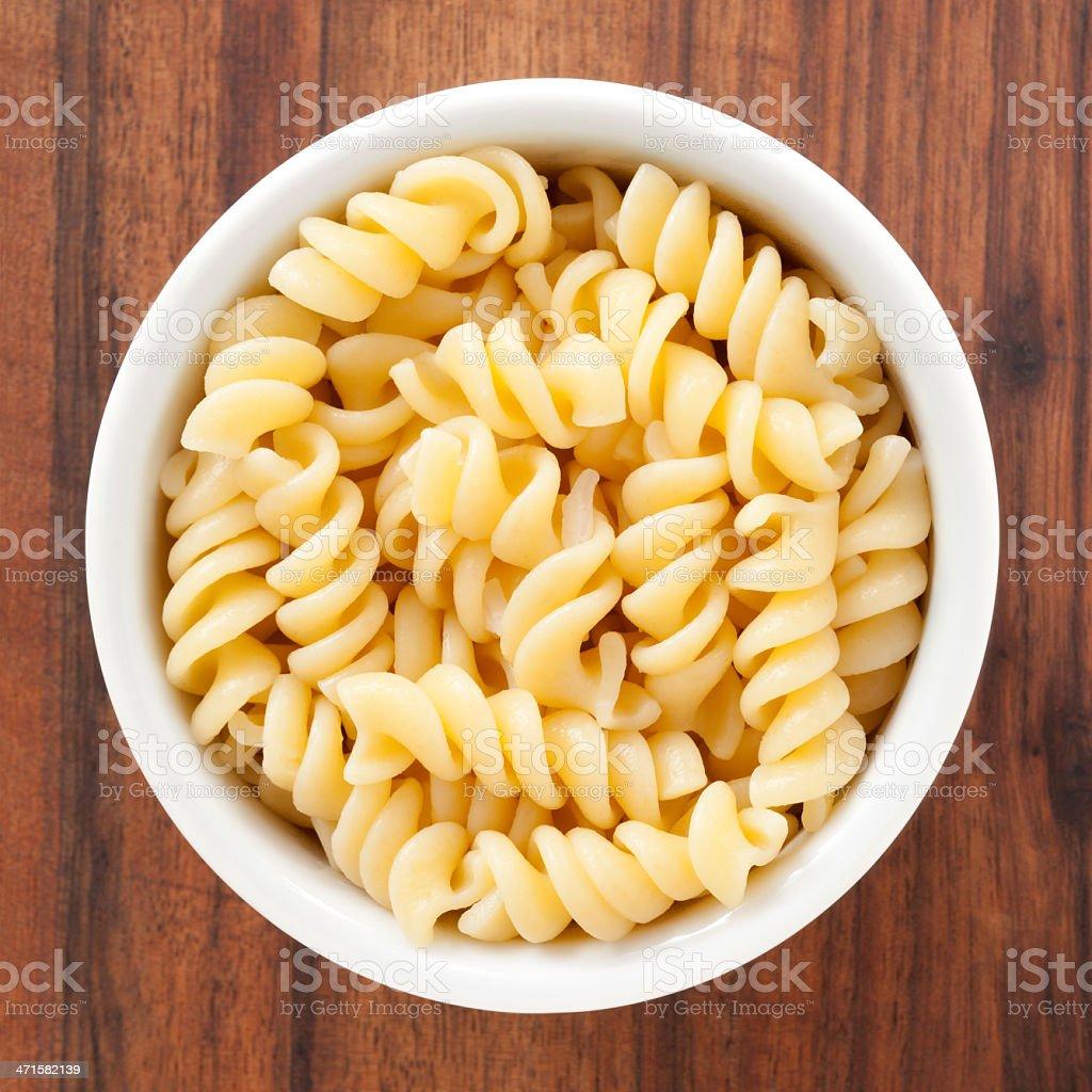Boiled fusilli Pasta stock photo