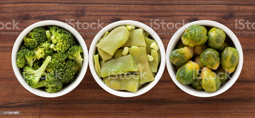 Boiled green vegetables royalty-free stock photo
