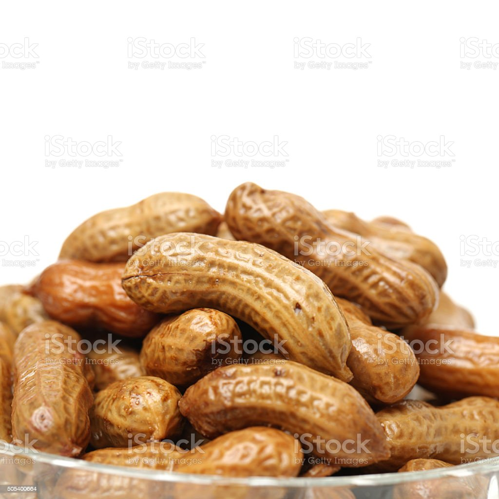 boiled peanuts stock photo