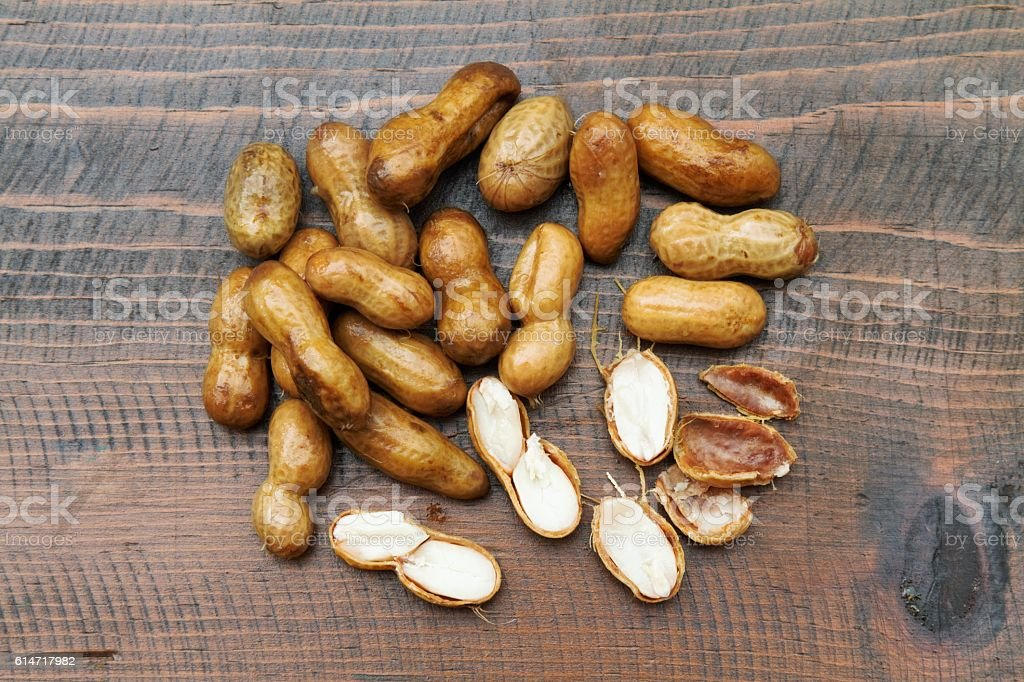 Boiled peanuts, southern salty snack stock photo