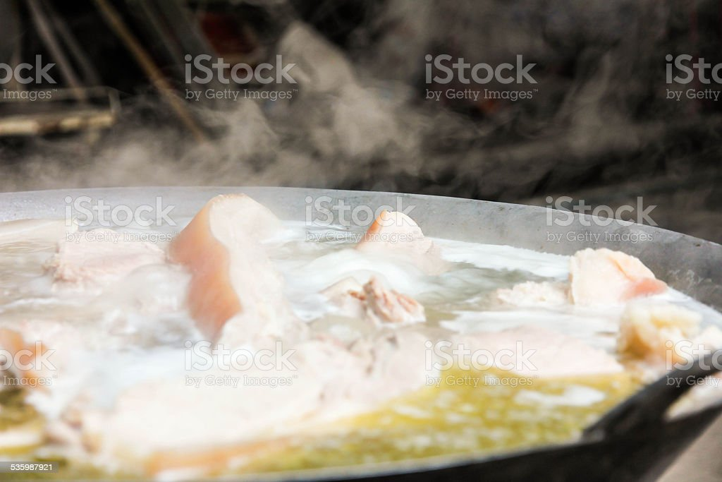 boiled pork for Chinese New Yea stock photo