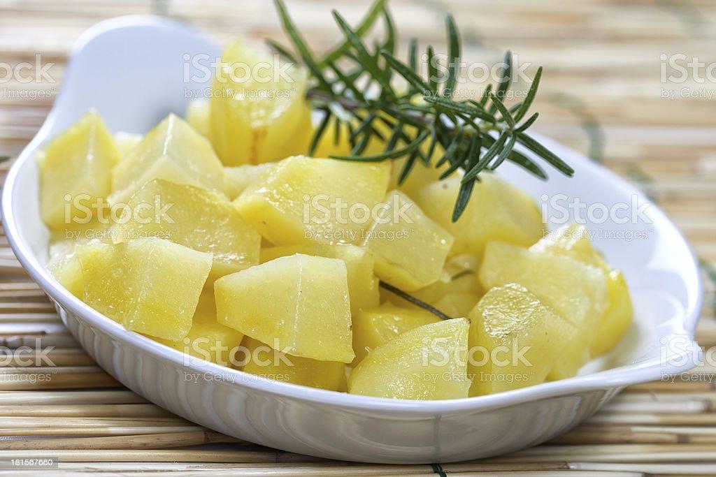 Boiled potato royalty-free stock photo