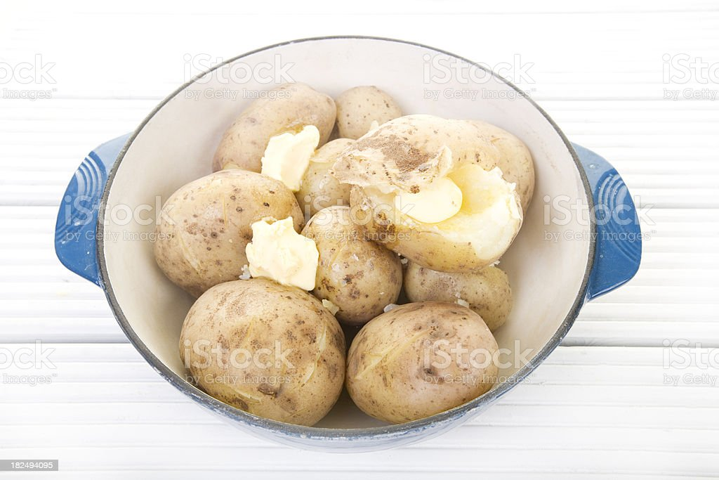 boiled potatoes royalty-free stock photo