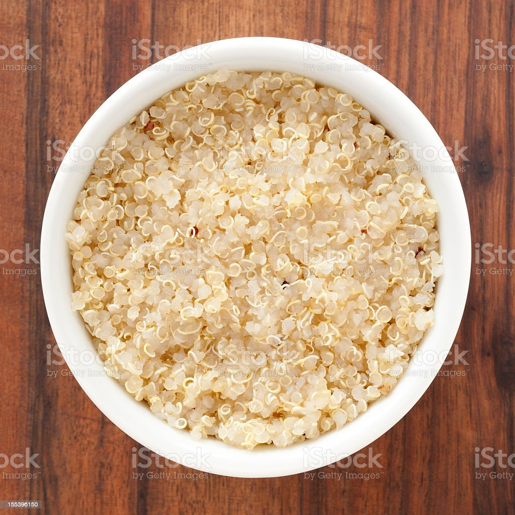 Boiled quinoa royalty-free stock photo