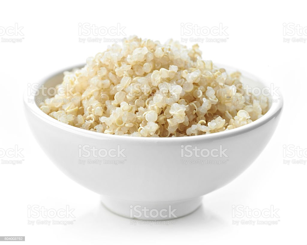 Boiled Quinoa seeds stock photo