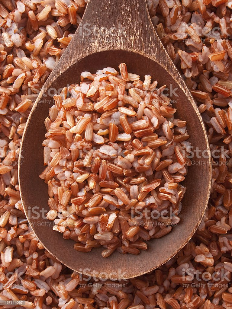 Boiled red rice royalty-free stock photo