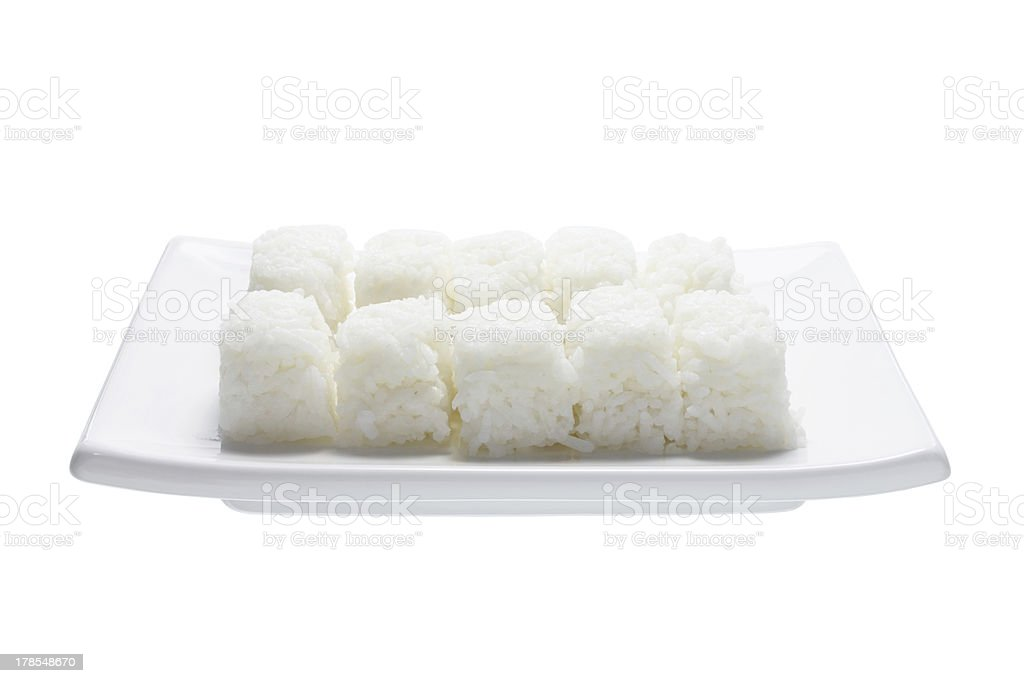 Boiled Rice on Plate royalty-free stock photo