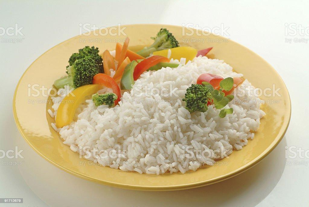 Отварной рис с овощами Стоковые фото Стоковая фотография