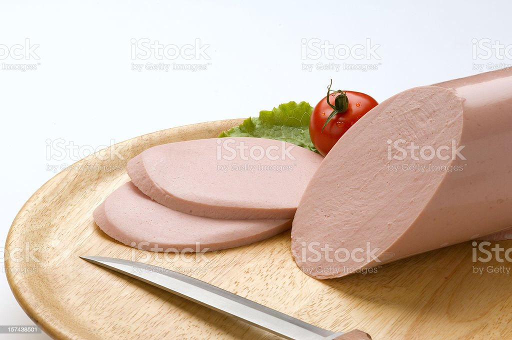 Boiled sausage royalty-free stock photo