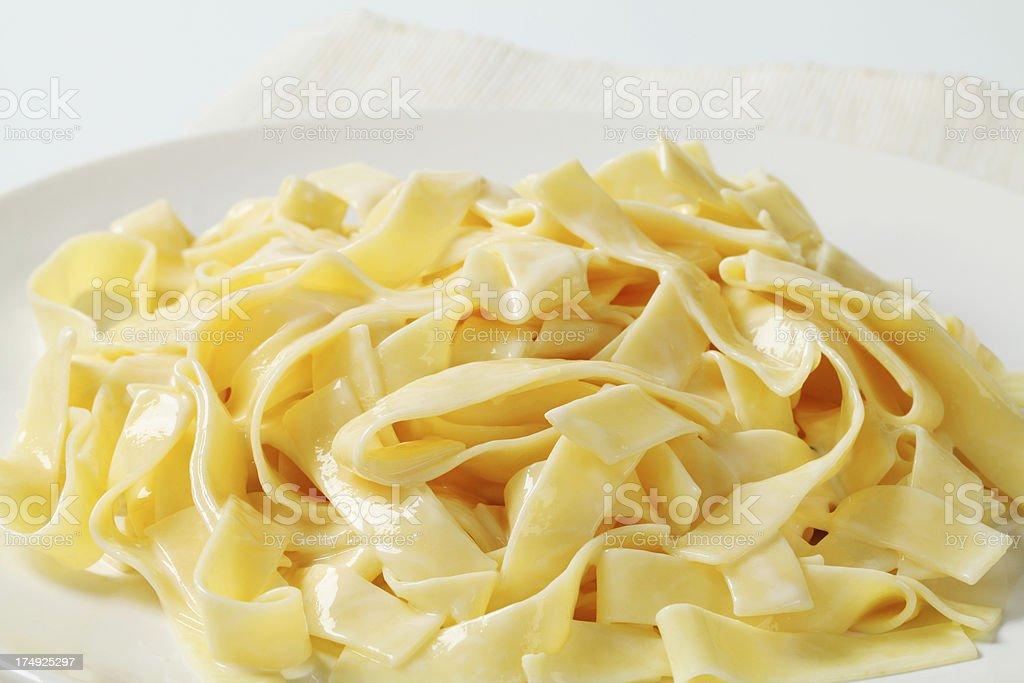 boiled tagliatelle royalty-free stock photo