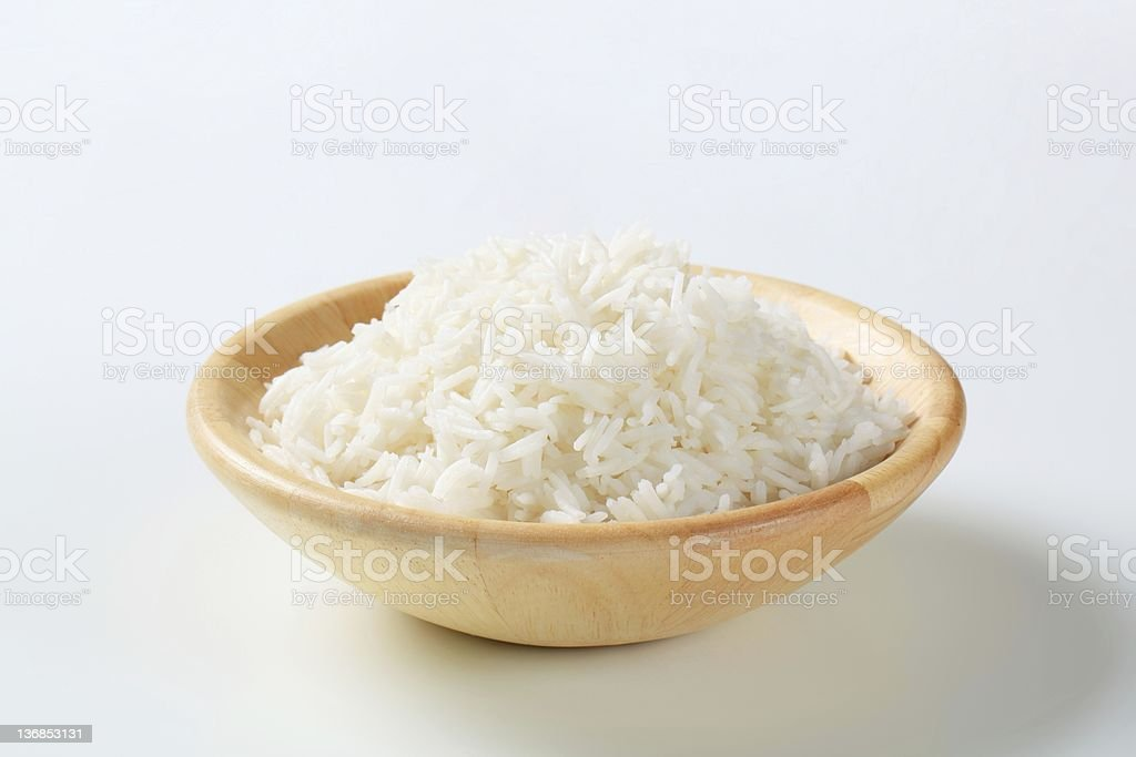 Boiled white rice royalty-free stock photo