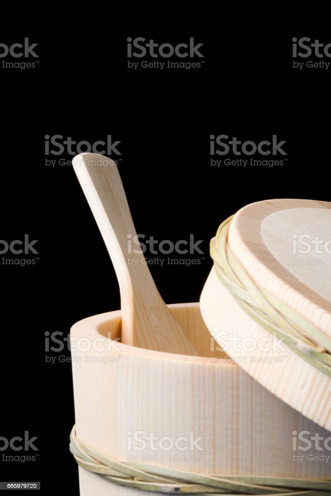 Boiled-rice container stock photo