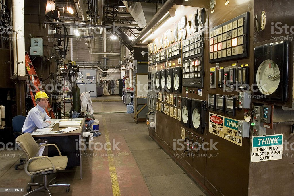 Boiler control room royalty-free stock photo