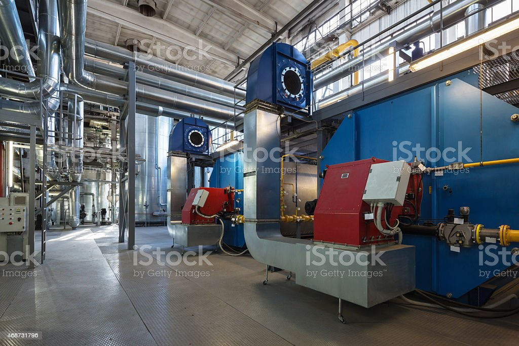 Boiler house stock photo